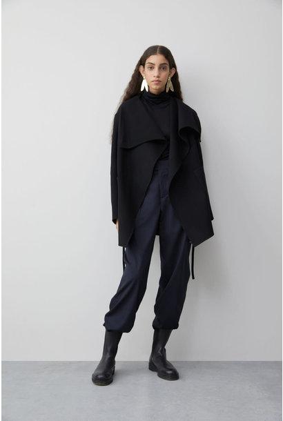 Double Face Cashmere Jacket - Black