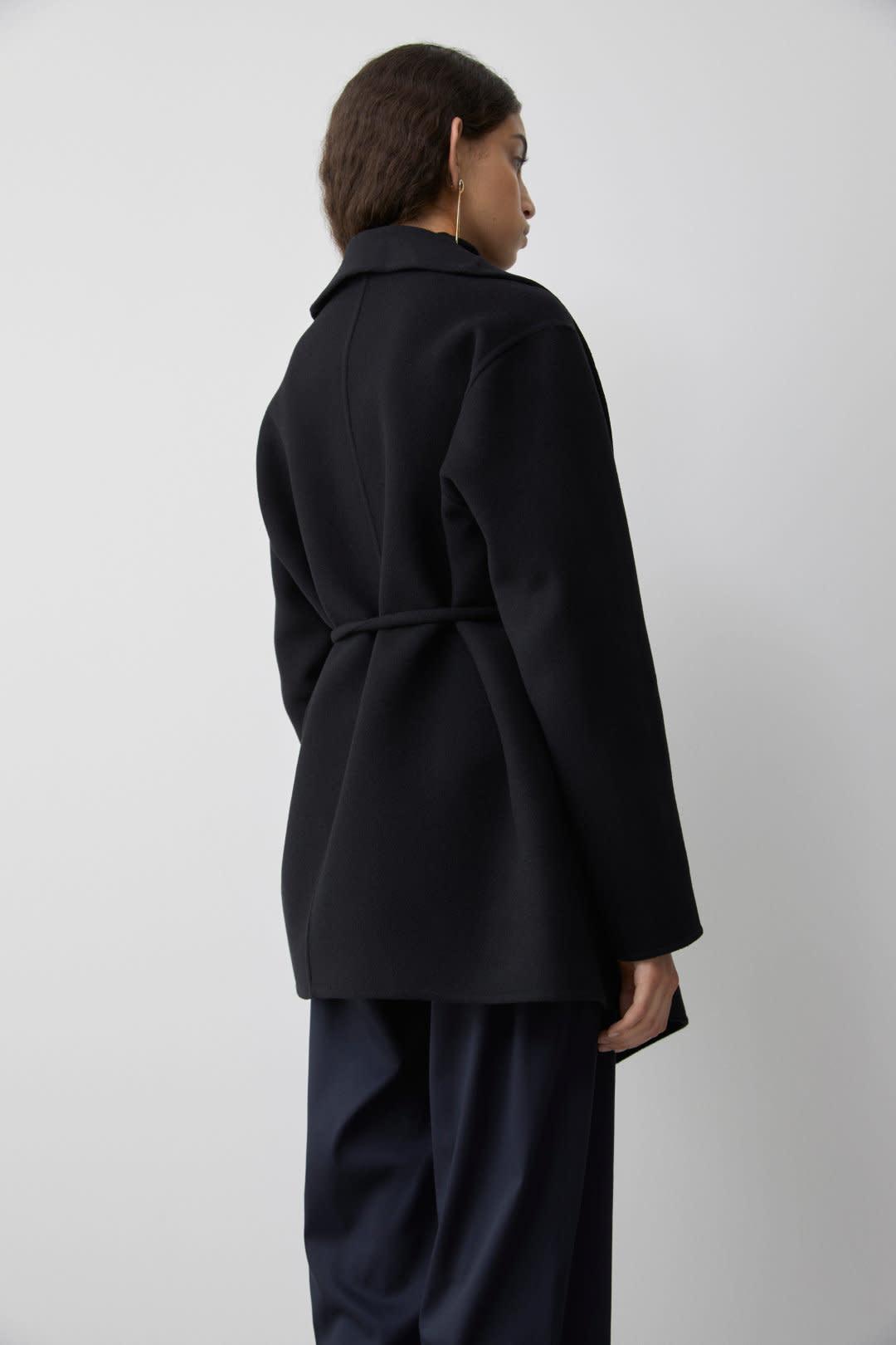 Double Face Cashmere Jacket - Black-2