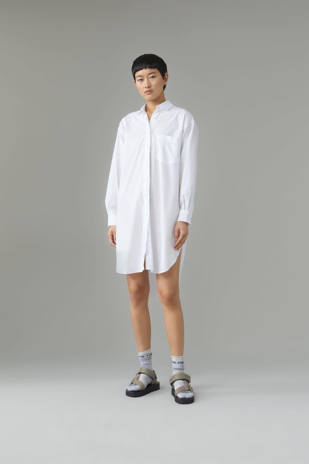 Jasmine Midi Dress - White-1