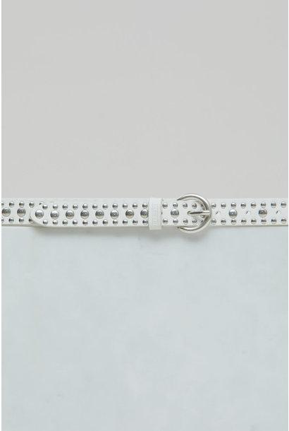 Leather Belt - Ivory