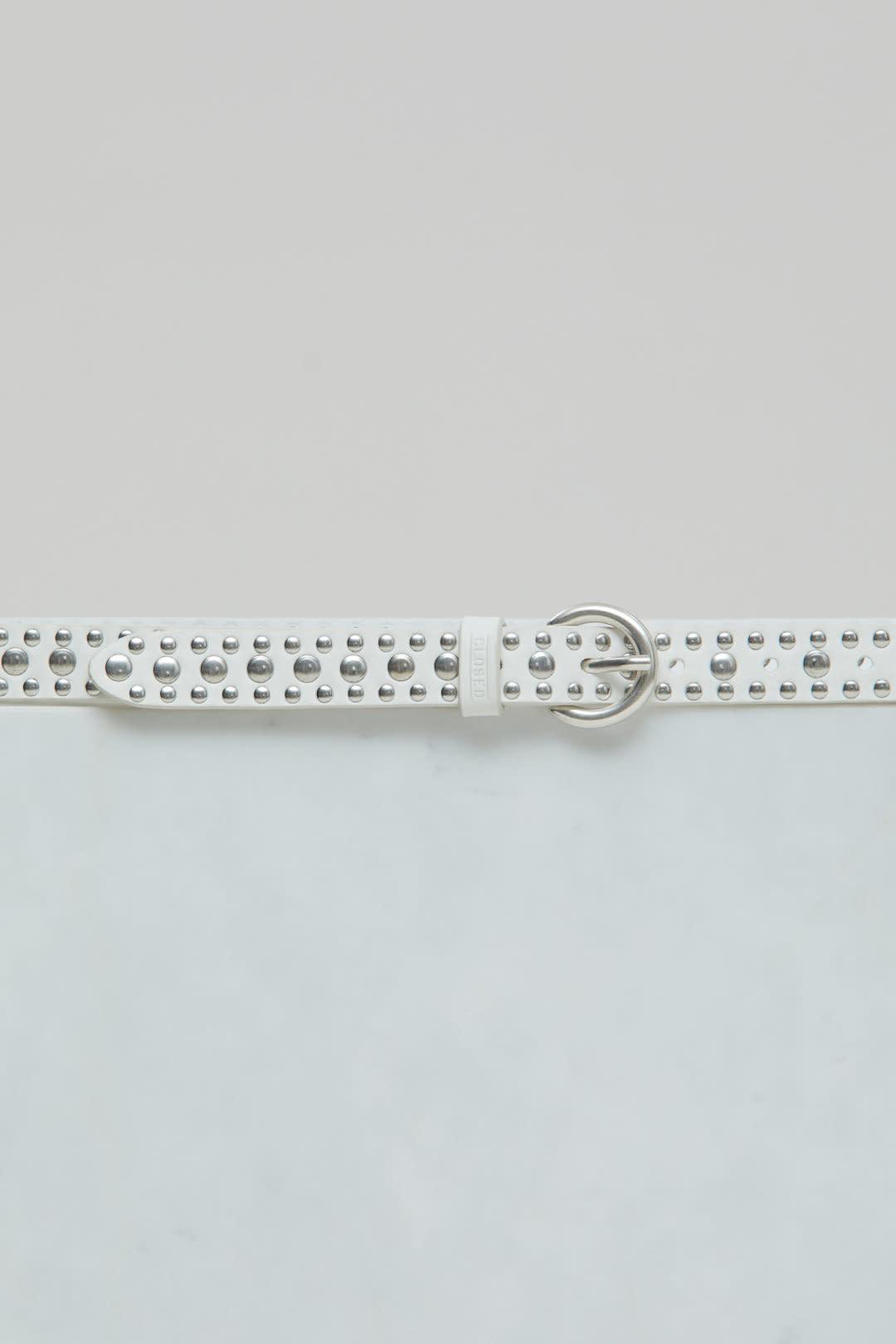 Leather Belt - Ivory-1
