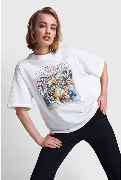Oversized Tiger T-shirt - White