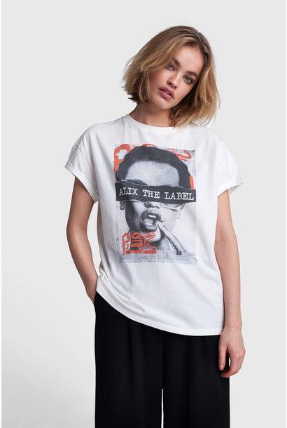 Boxy Photo T-shirt - White