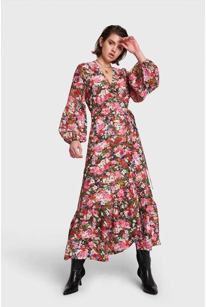 Maxi Wrap Dress - Flower Pink