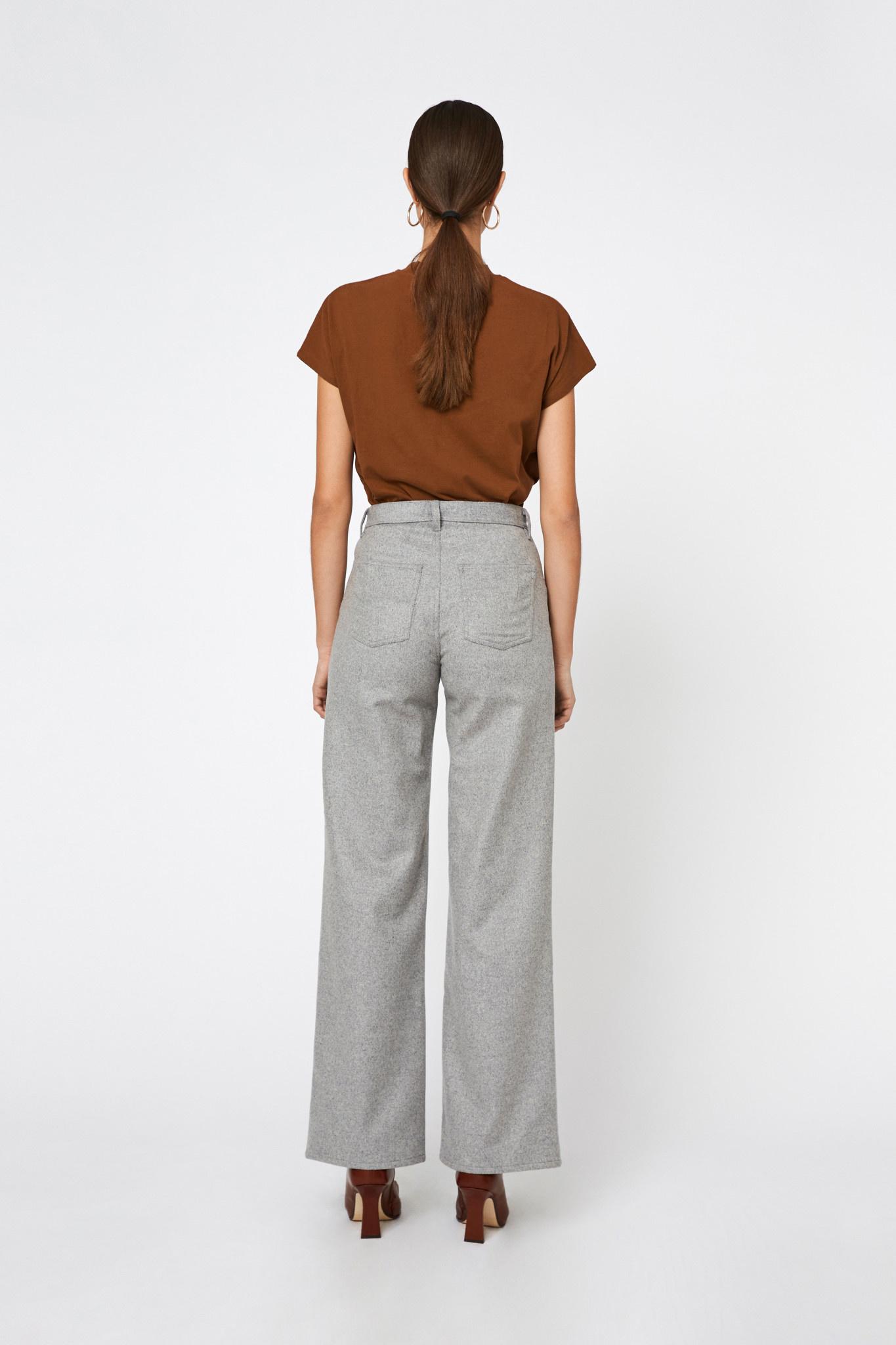 Kiri Long Flair Pants - Grey-2