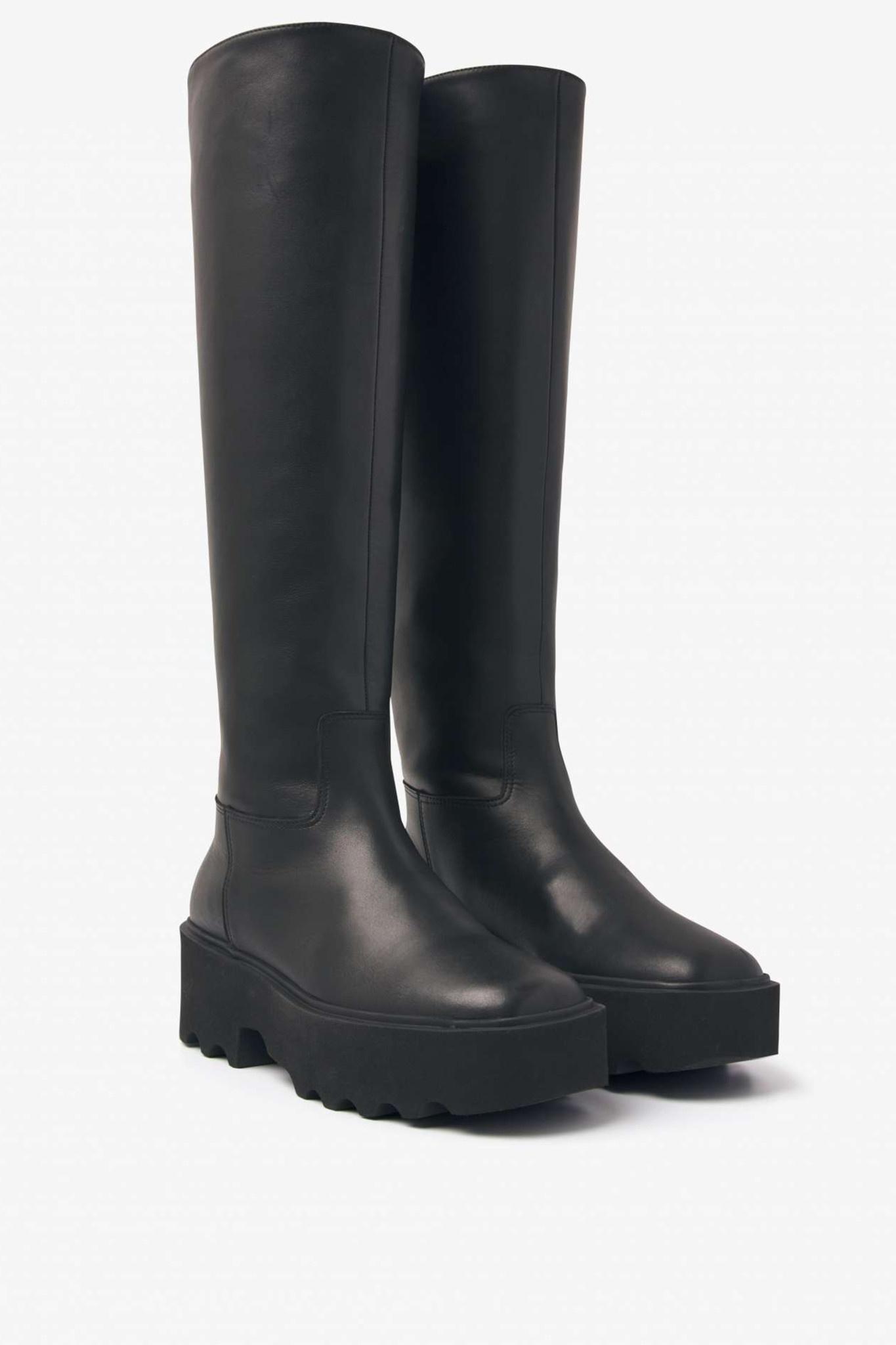 Fara Zip Boot High - Black-1