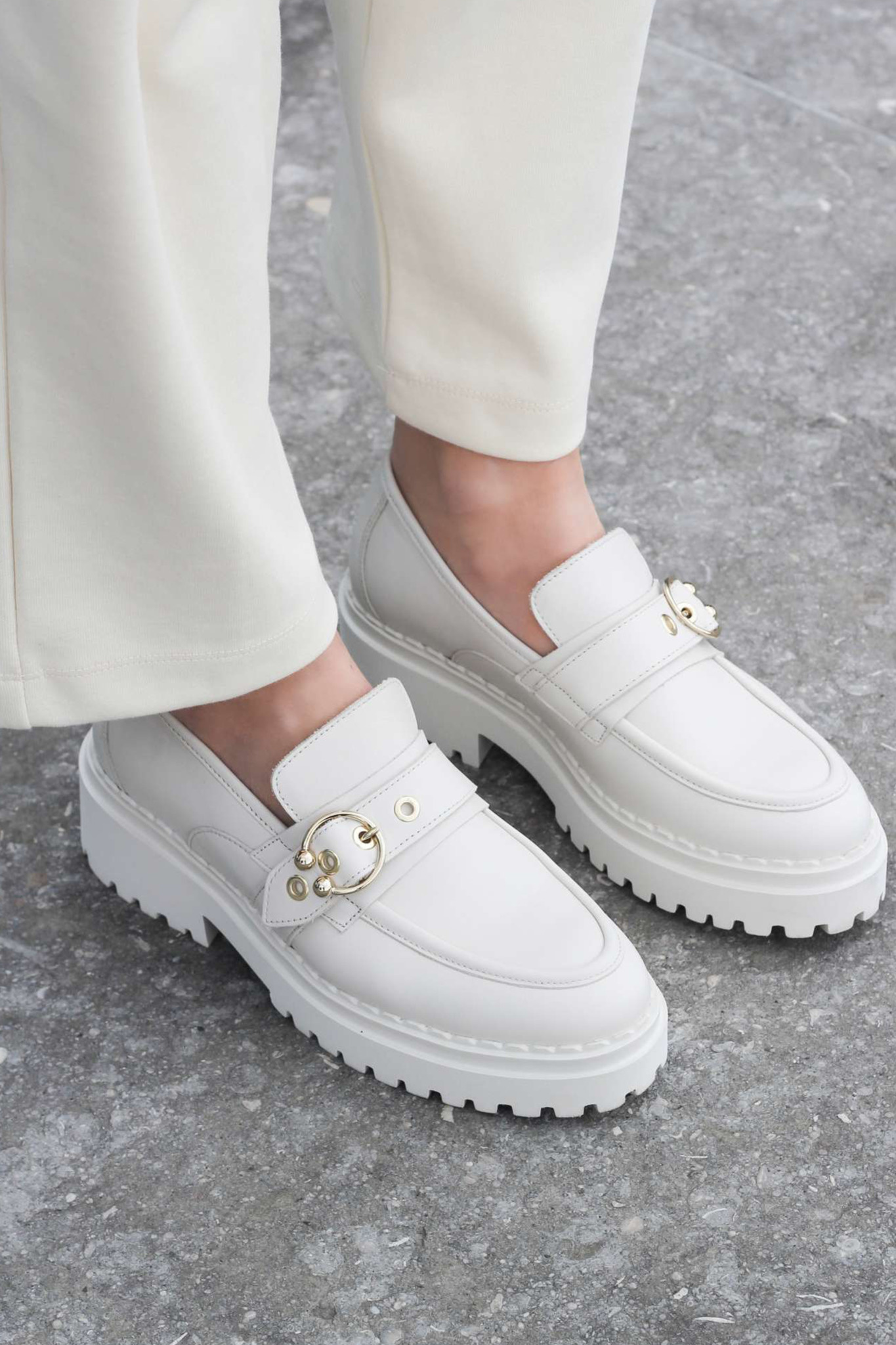 Fae Gatsby Sandals - Beige-2