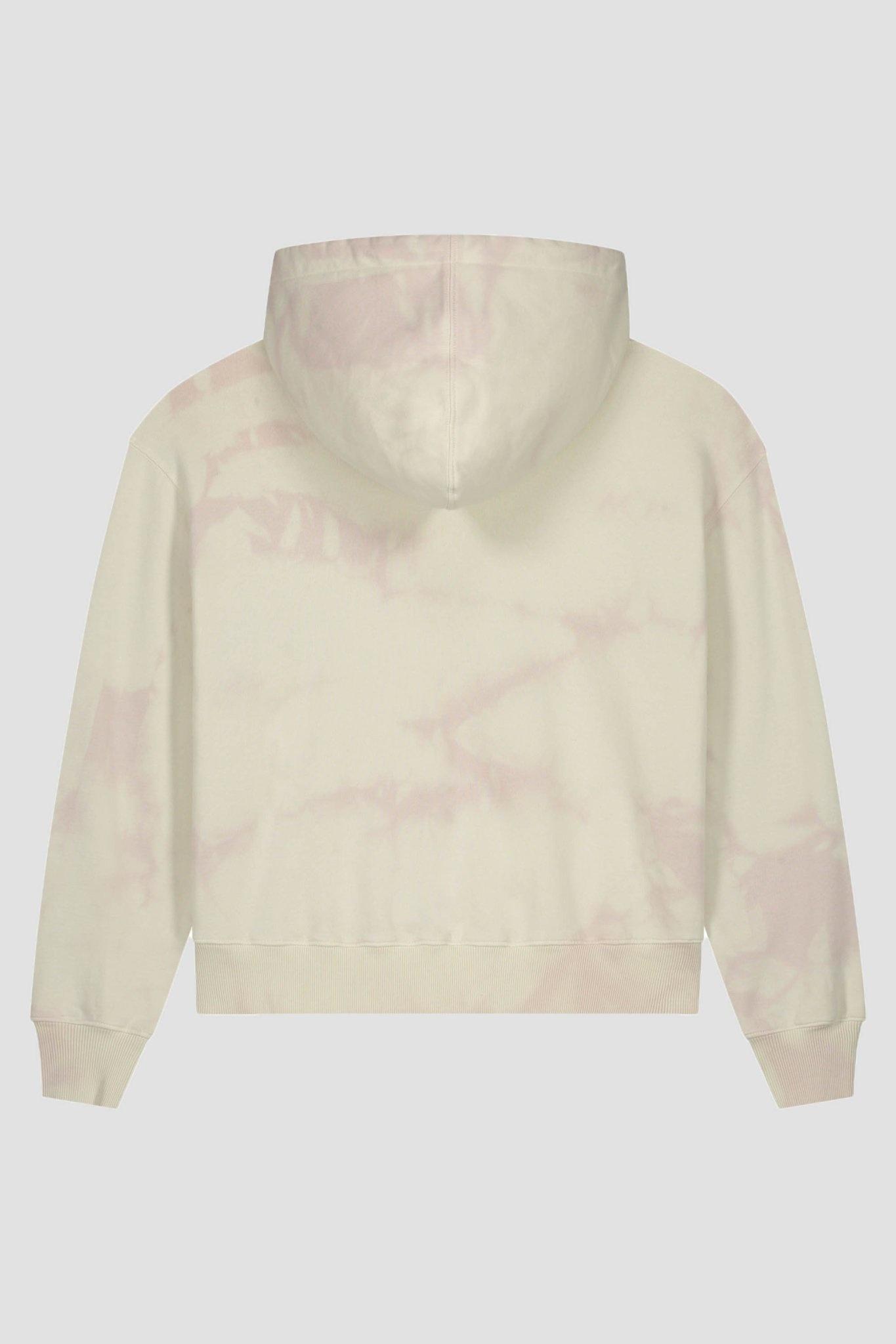 Tie Dye Hoodie - Cream/Pink-2