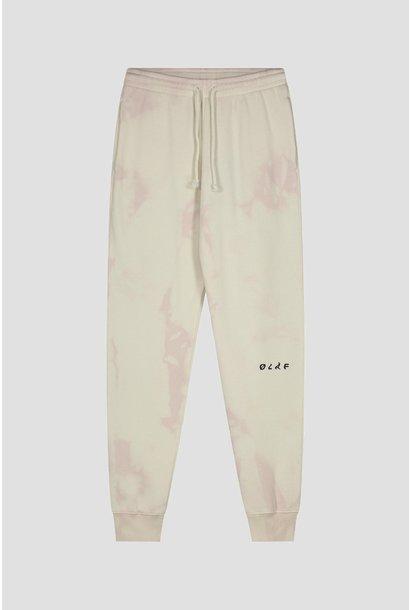 Tie Dye Sweatpants - Cream/Pink