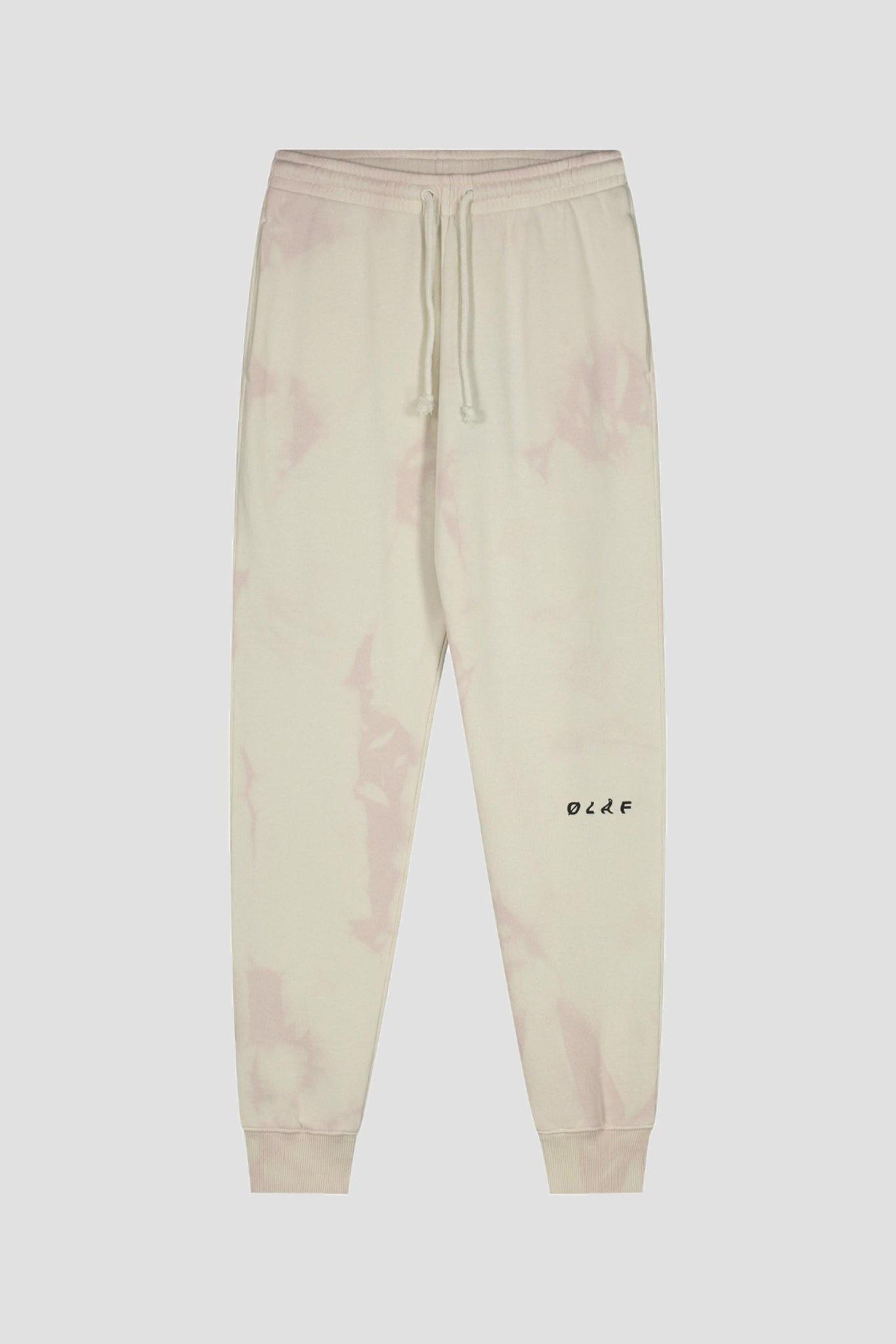 Tie Dye Sweatpants - Cream/Pink-1