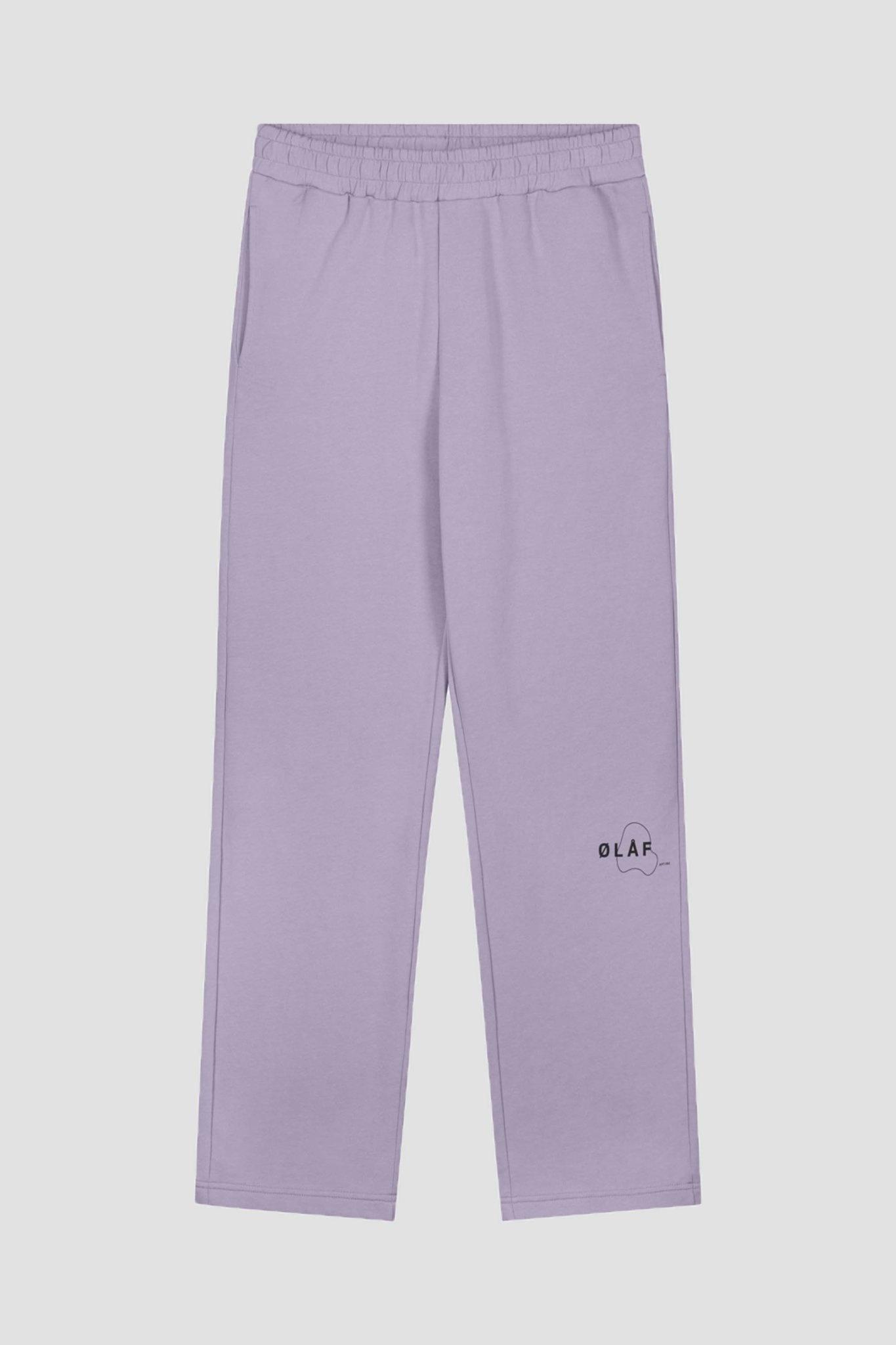 Relax Mirror Sweatpants - Purple-1