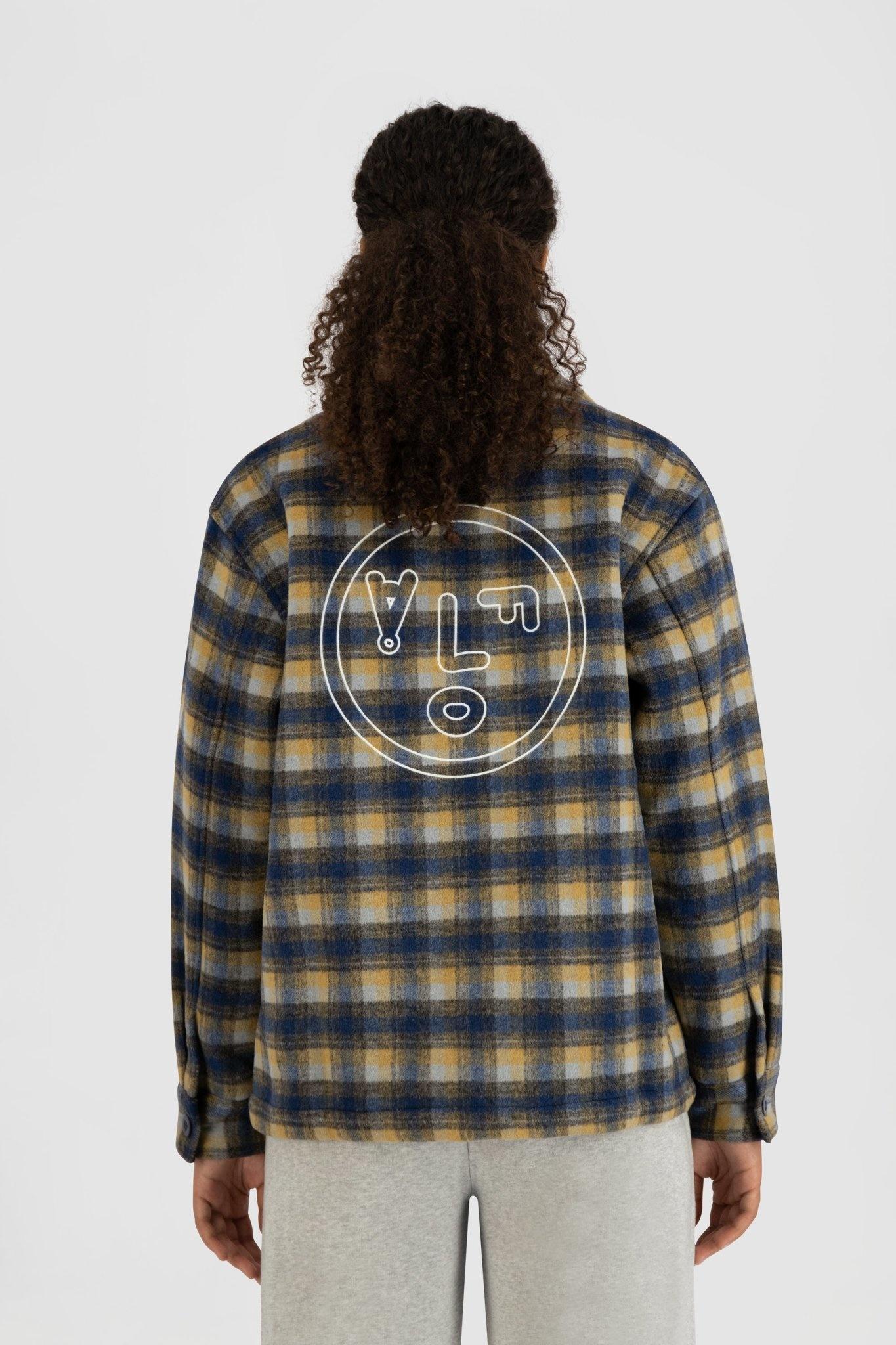 Short Shacket - Blue Check-2