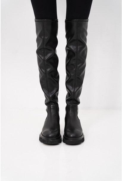 CPH544 Vitello/Vegan High Boots - Black