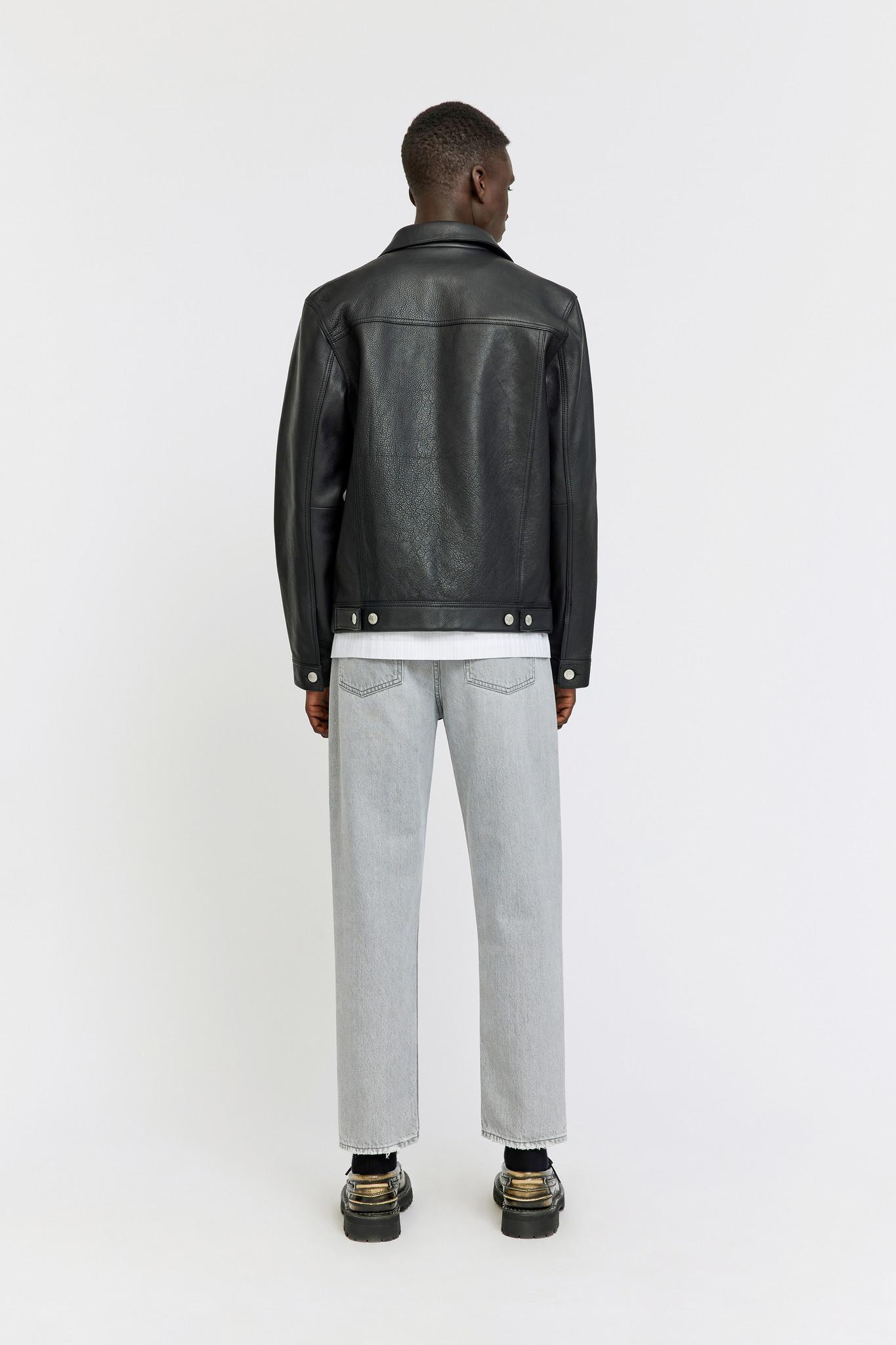 Vinny Leather Jacket - Black-2