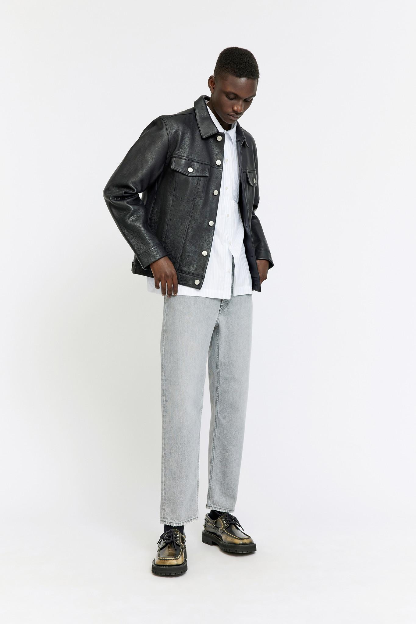 Vinny Leather Jacket - Black-1