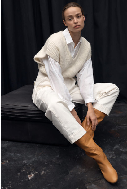 Royal Baby Alpaca Mix Sweater Vest - Vanilla