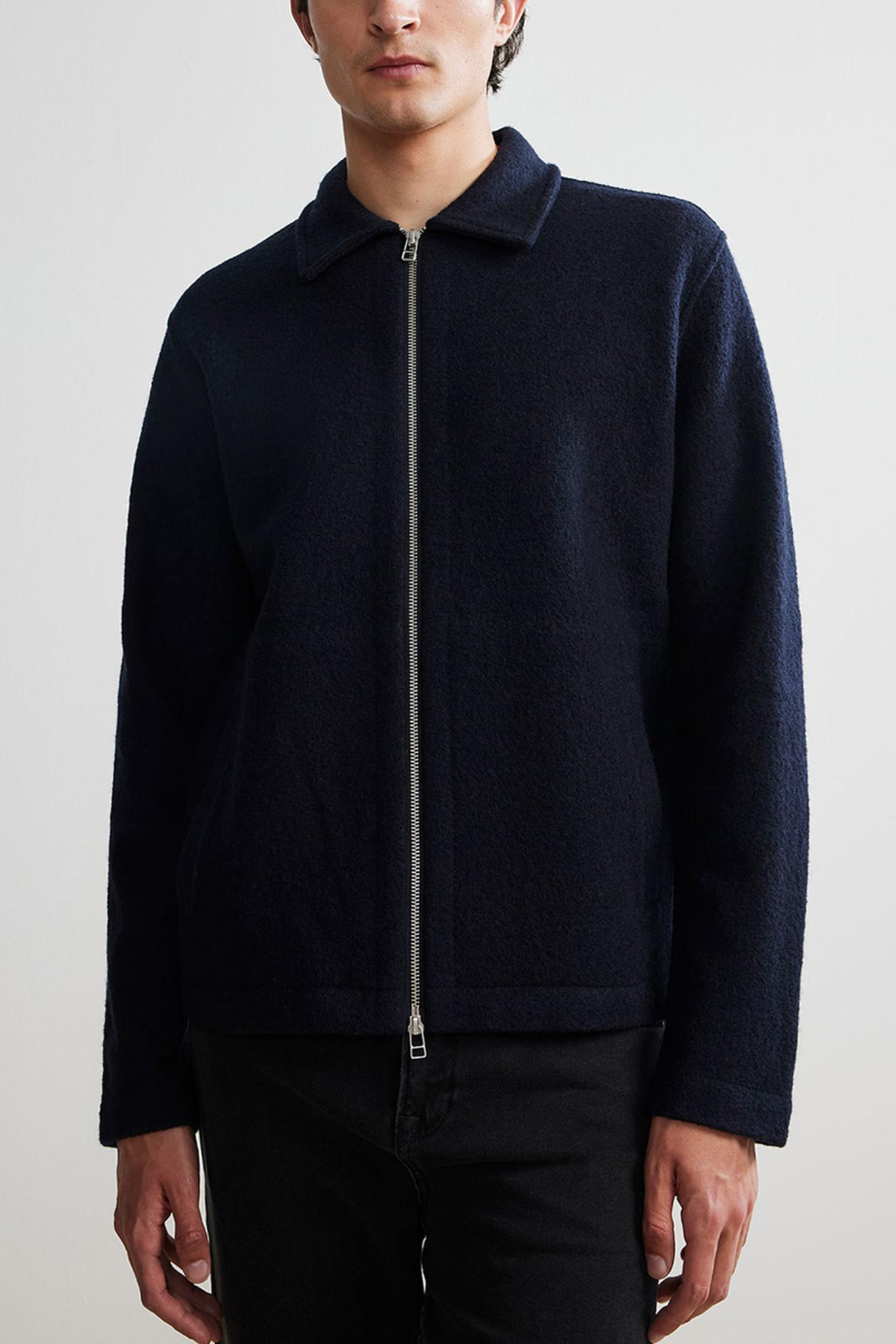 Ivan Overshirt Wool - Dark Blue-1