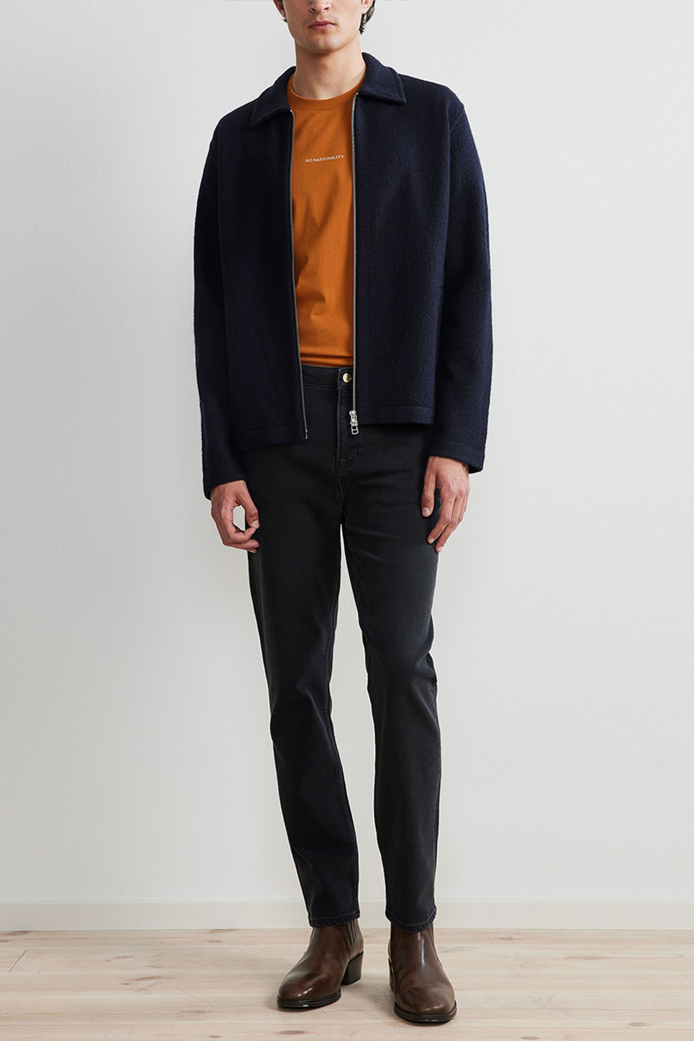 Ivan Overshirt Wool - Dark Blue-2