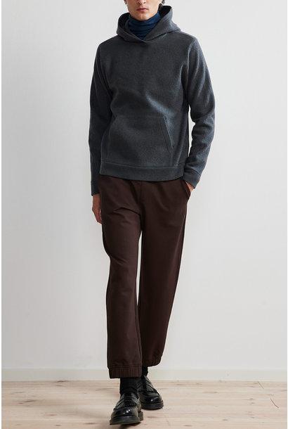 Mark Hoodie Wool - Dark Grey