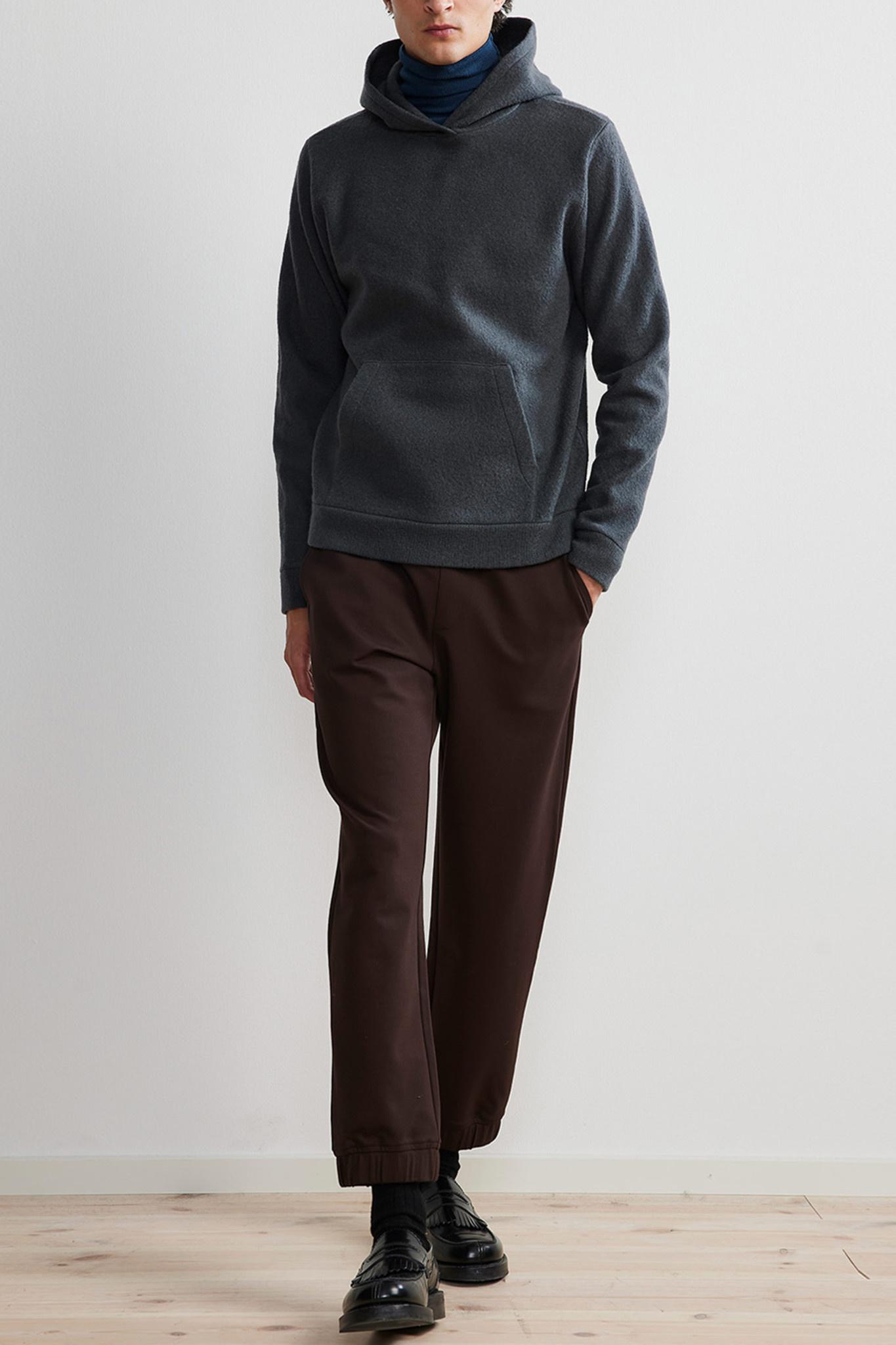 Mark Hoodie Wool - Dark Grey-1