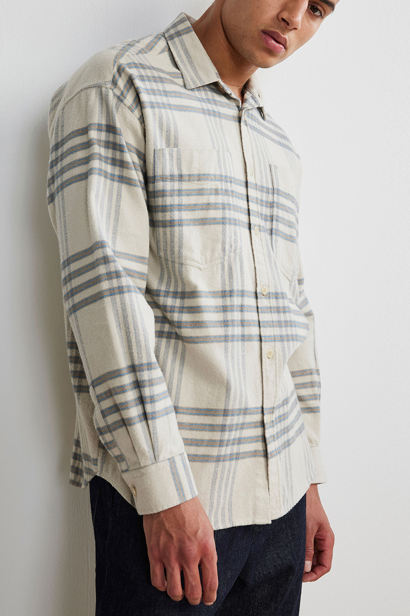 Deon Western Overshirt - Beige-1