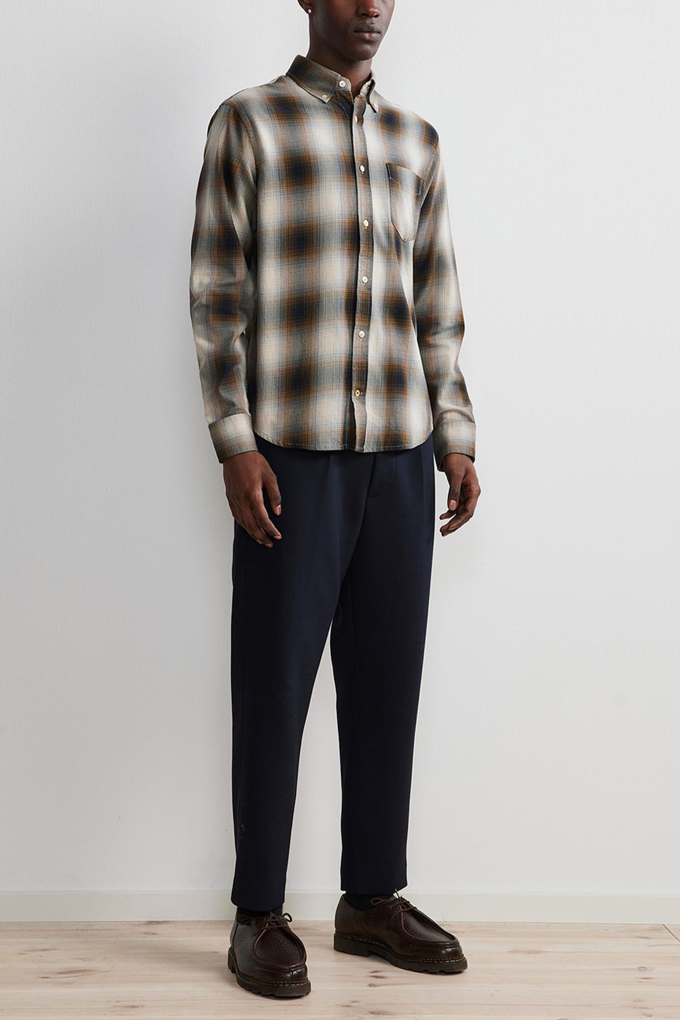 Levon Shirt - Brown Check-2