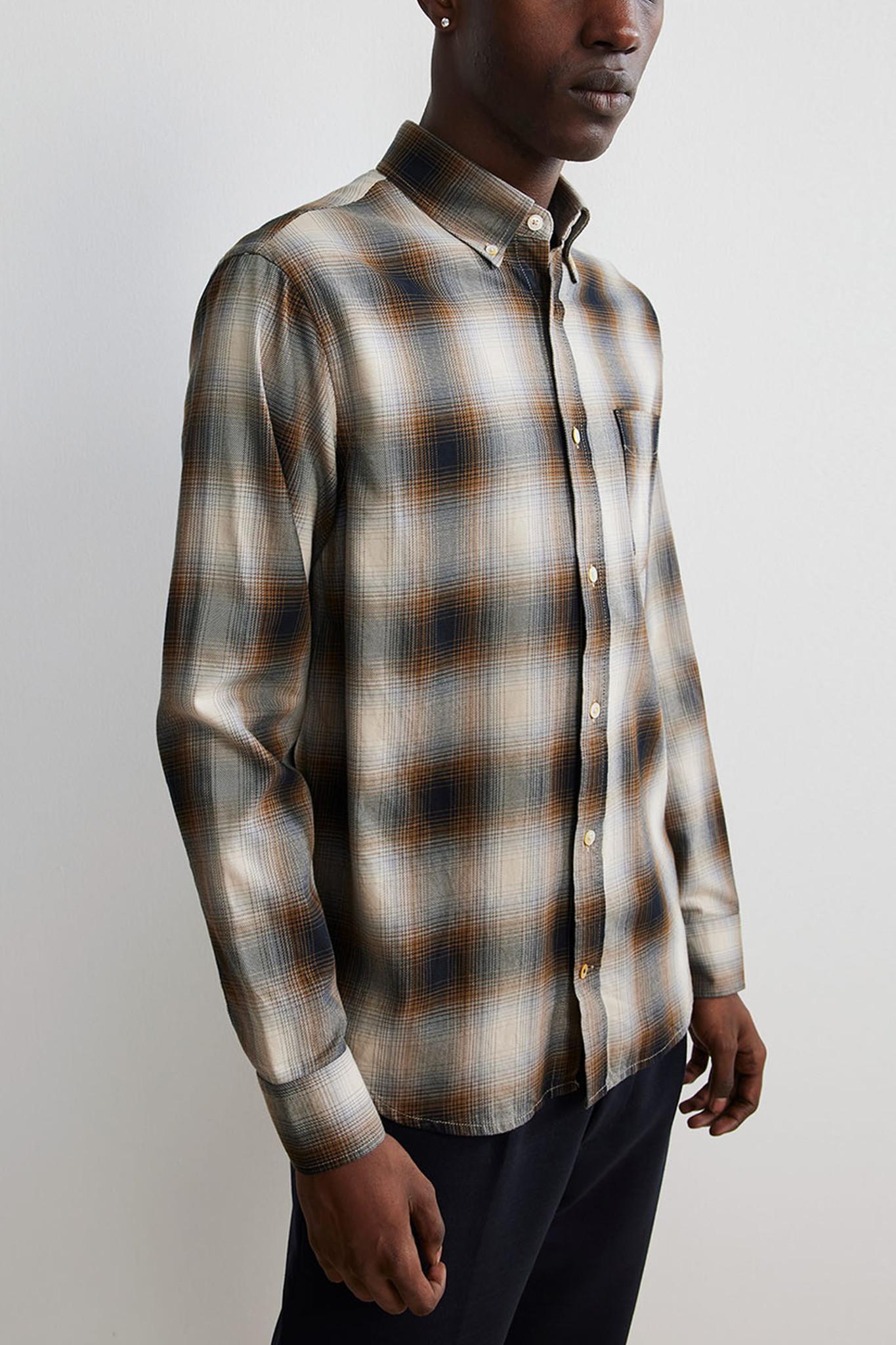 Levon Shirt - Brown Check-1
