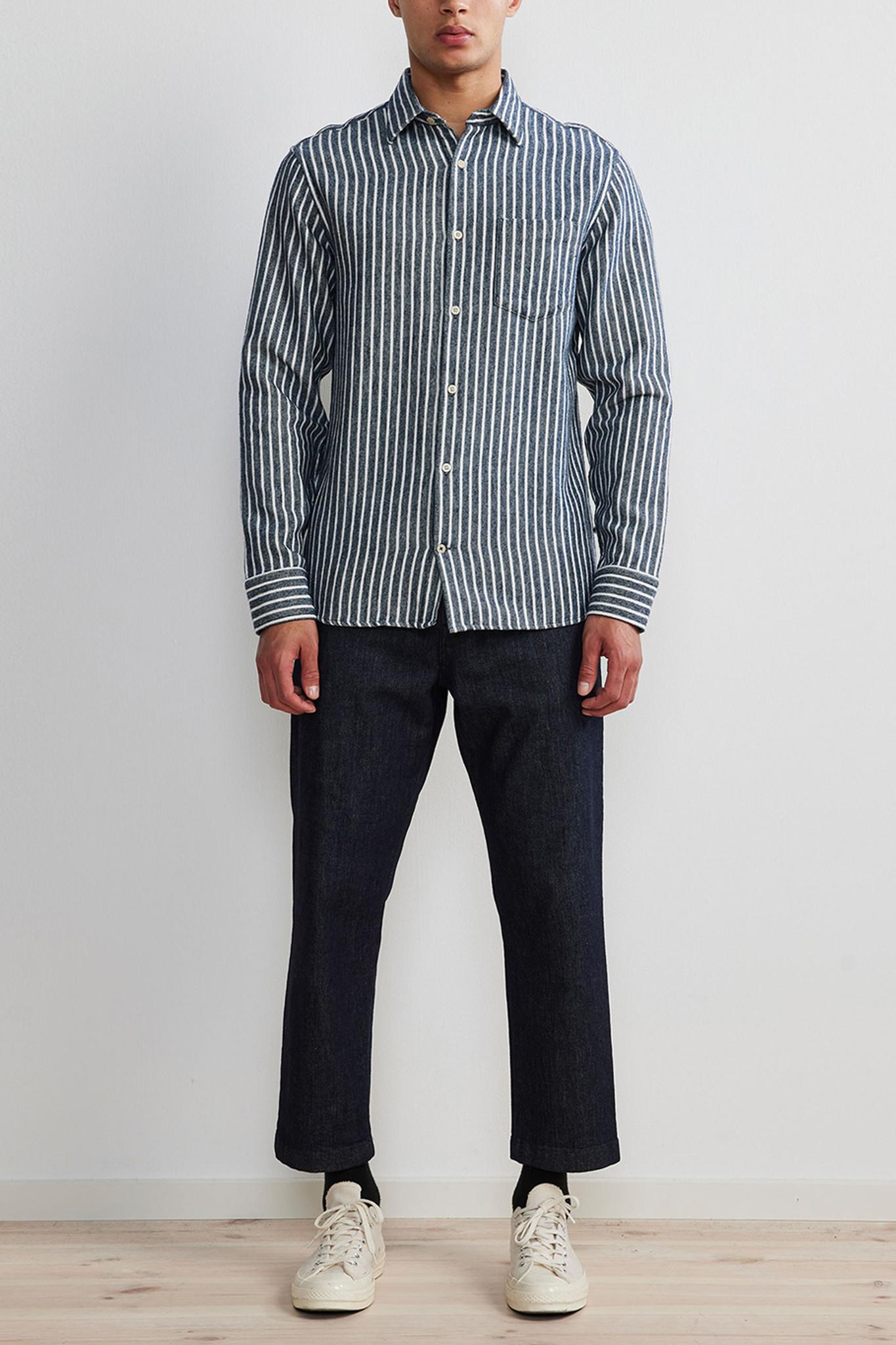 Errico Shirt - Blue Stripes-2