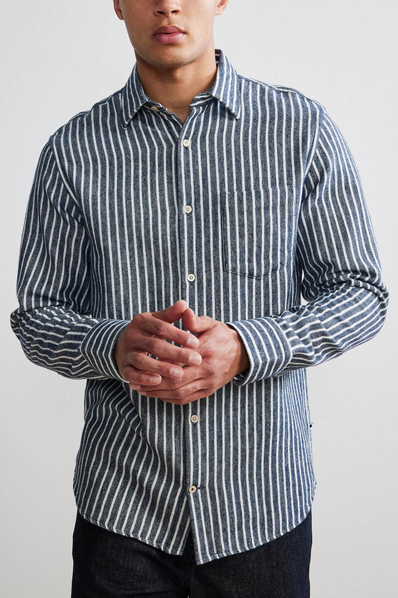 Errico Shirt - Blue Stripes-1