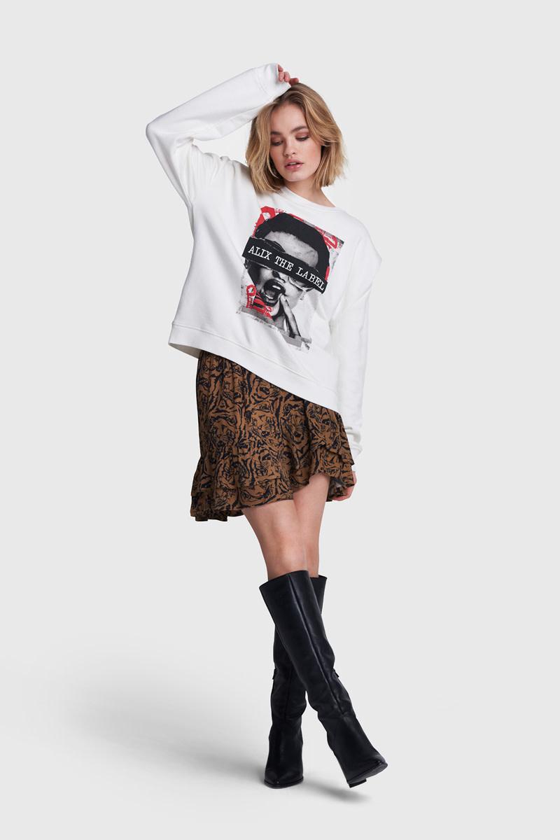 Oversized Photo Sweater - White-2