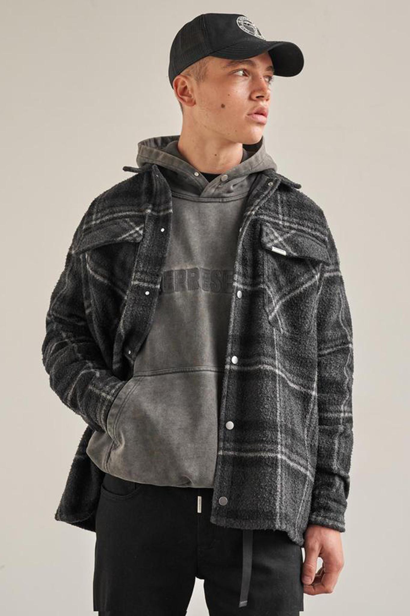 Overshirt - Grey Check-1