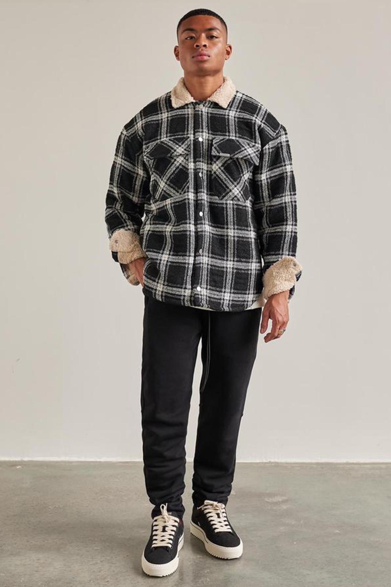 Sherpa Shirt - Black-1