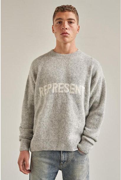 Mock Neck Sweater Alpaca Wool - Grey