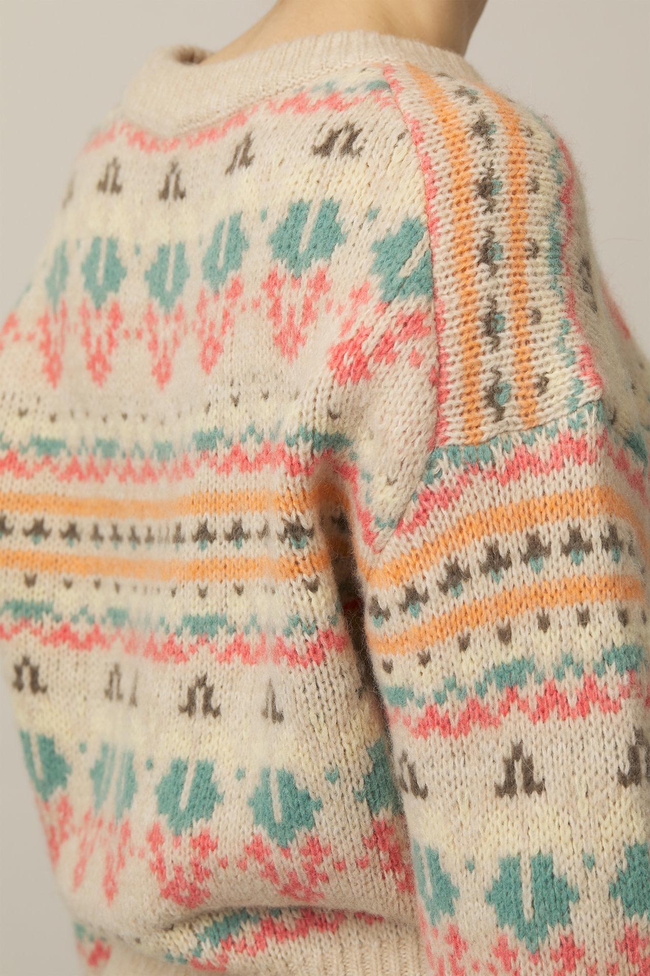 Alpaca Blend Knit - Vanilla-2