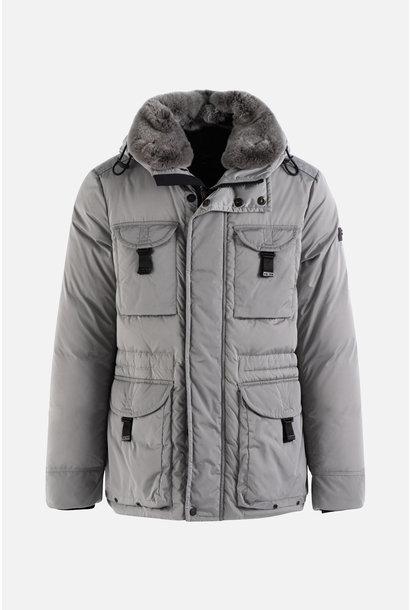 Field Jacekt Fur Collar - Grey