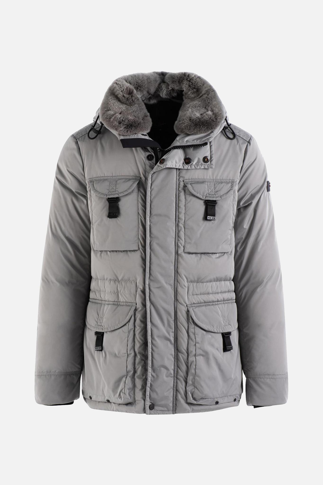Field Jacekt Fur Collar - Grey-1