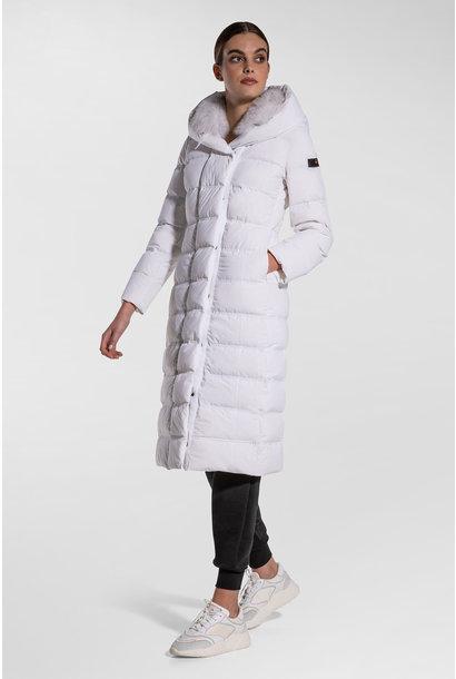 Long Down Jacket - White