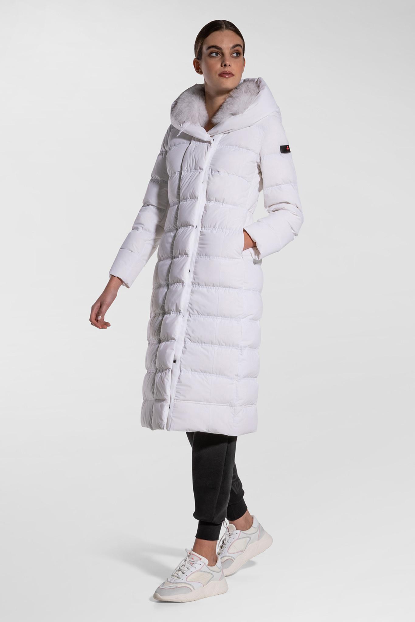 Long Down Jacket - White-1