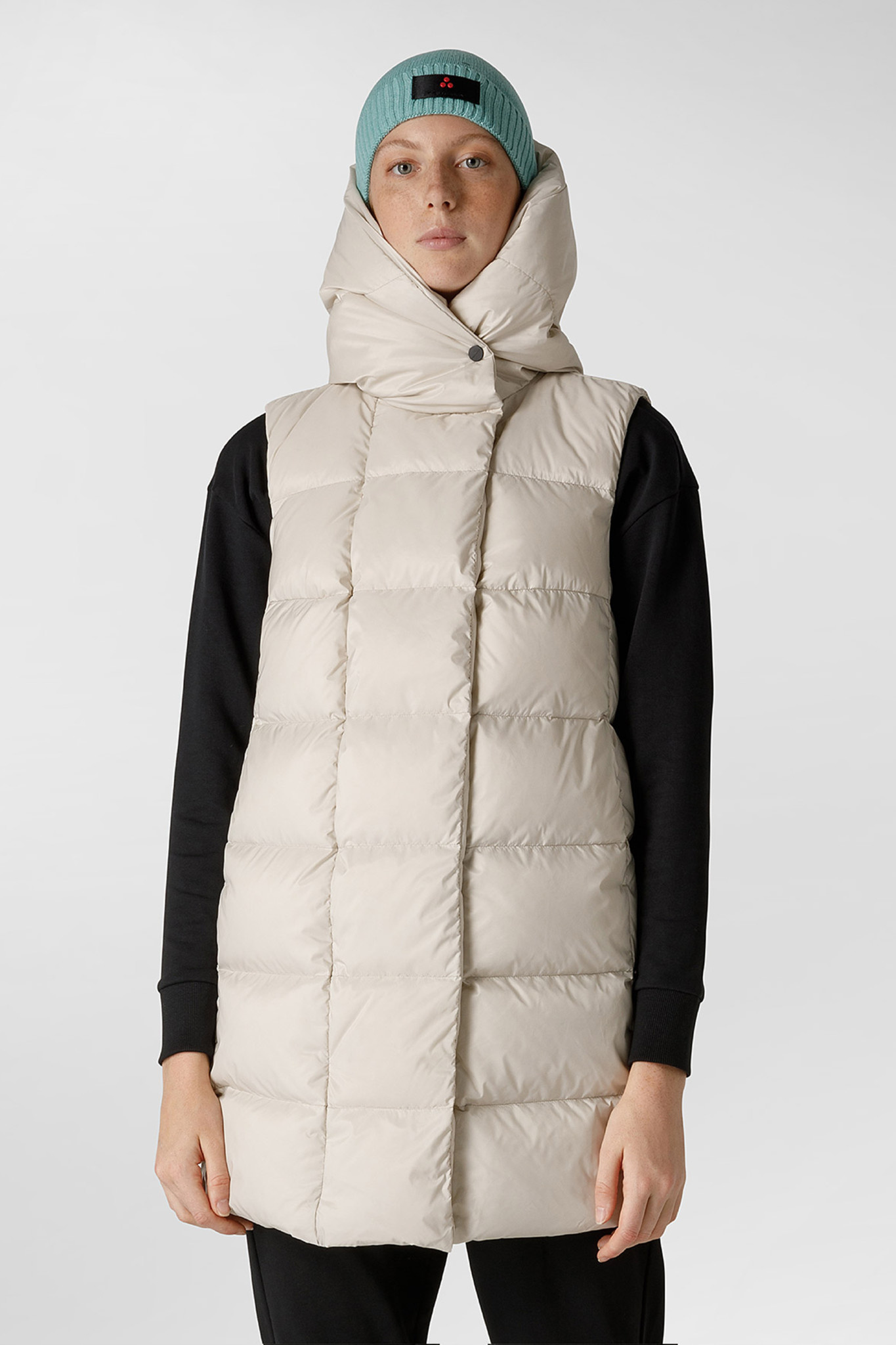 Down Vest GRS Certified Fabric - Champagne-1