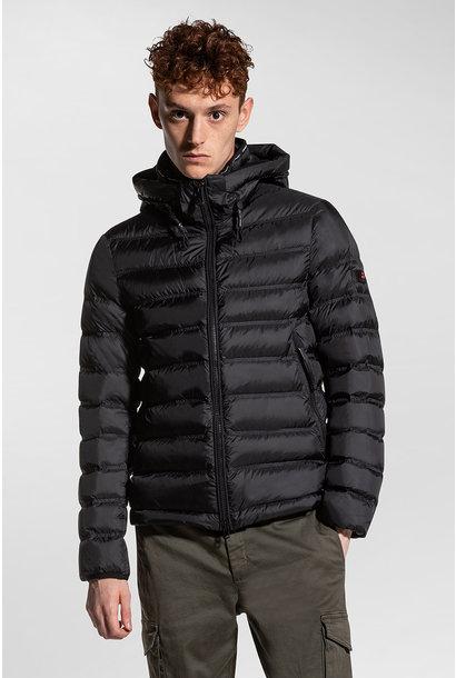 Light Semi-Glossy Down Jacket - Black