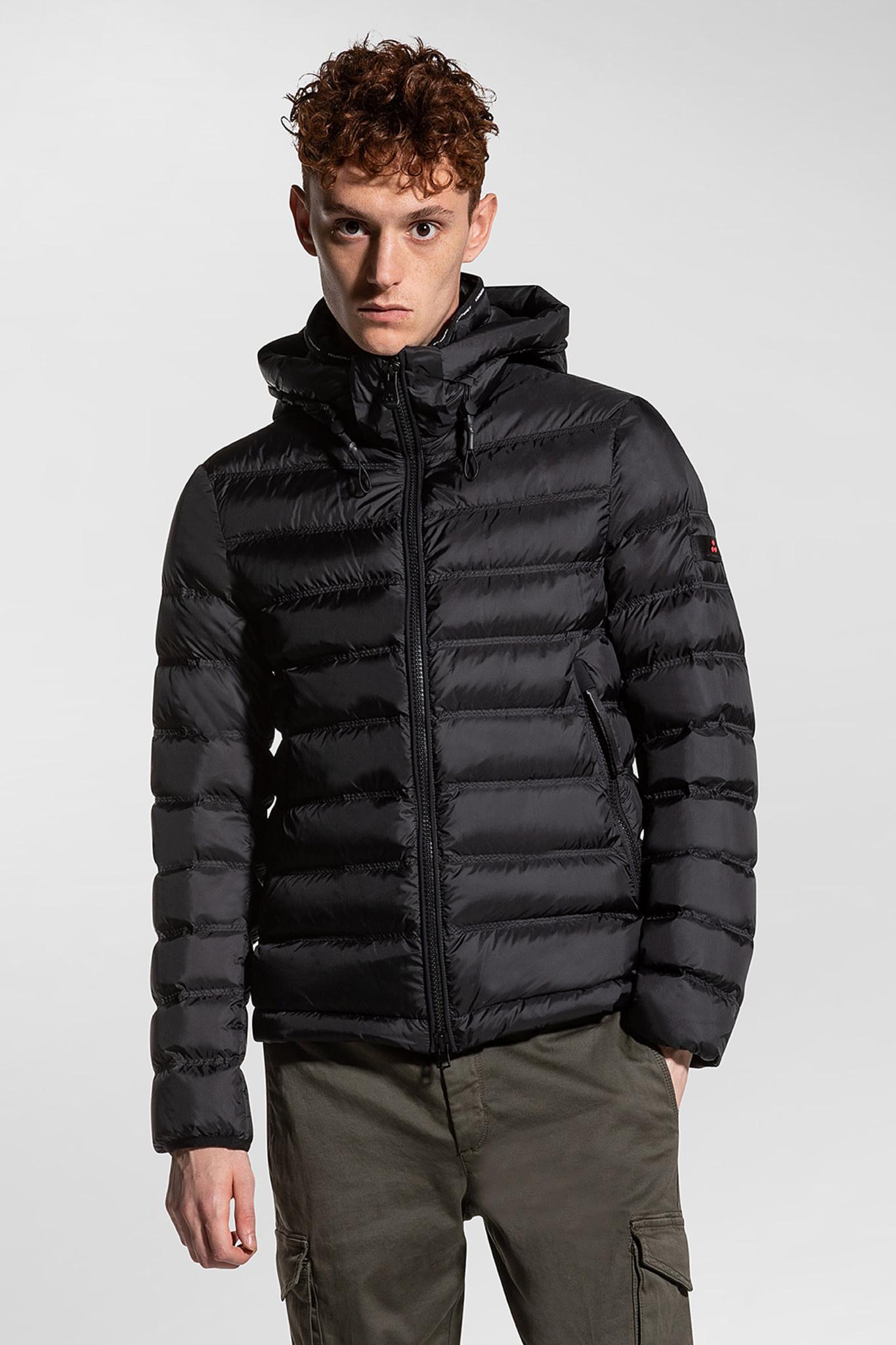 Light Semi-Glossy Down Jacket - Black-1
