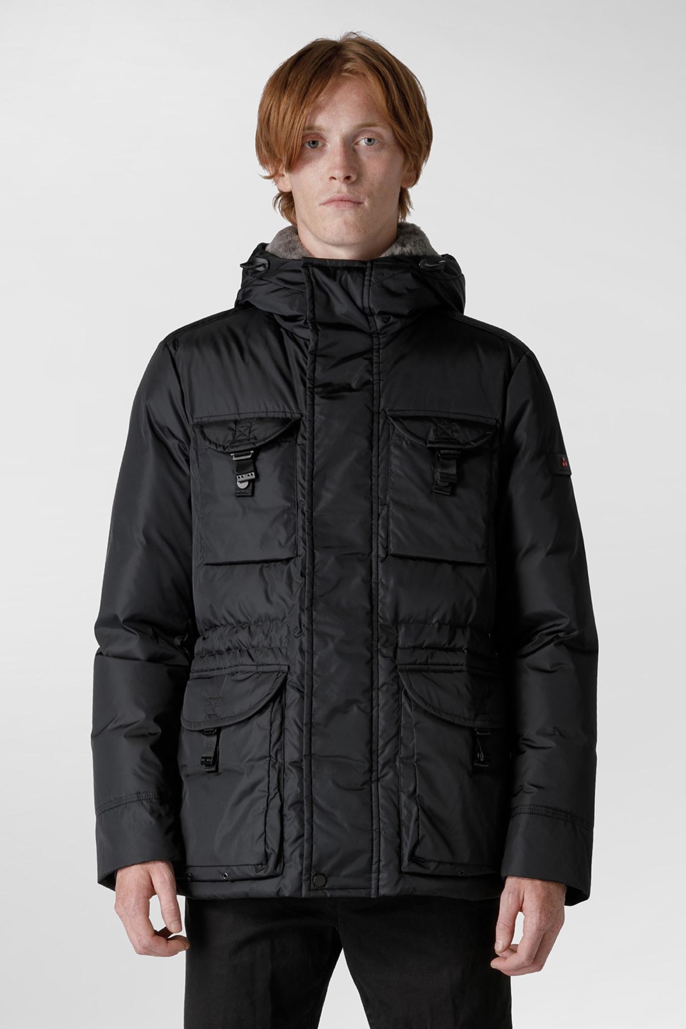 Field Jacket Fur Collar - Black-1