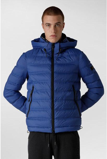 Light Semi-Glossy Down Jacket - Blue