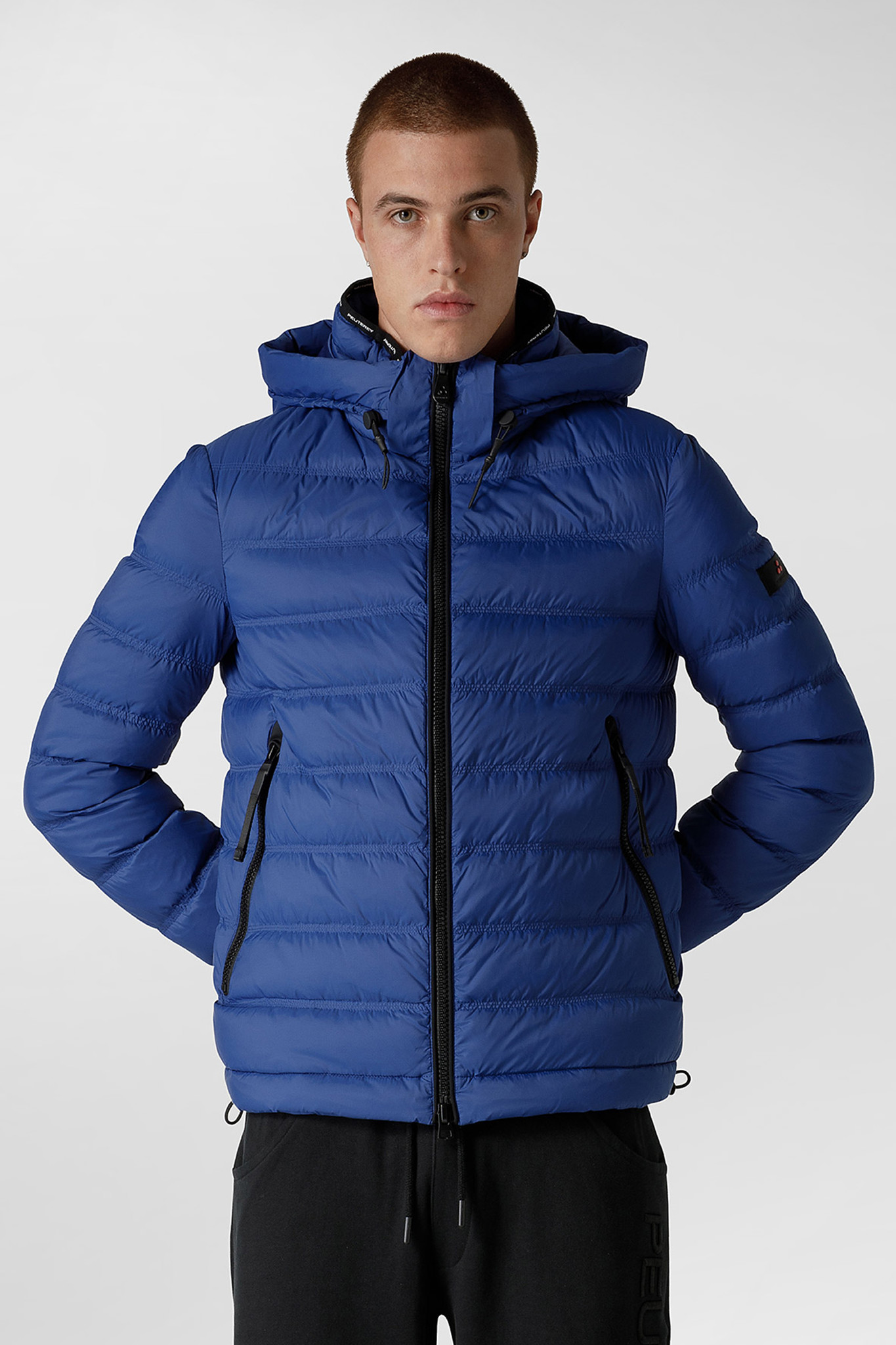 Light Semi-Glossy Down Jacket - Blue-1