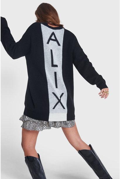 Knitted V-neck Pullover - Black