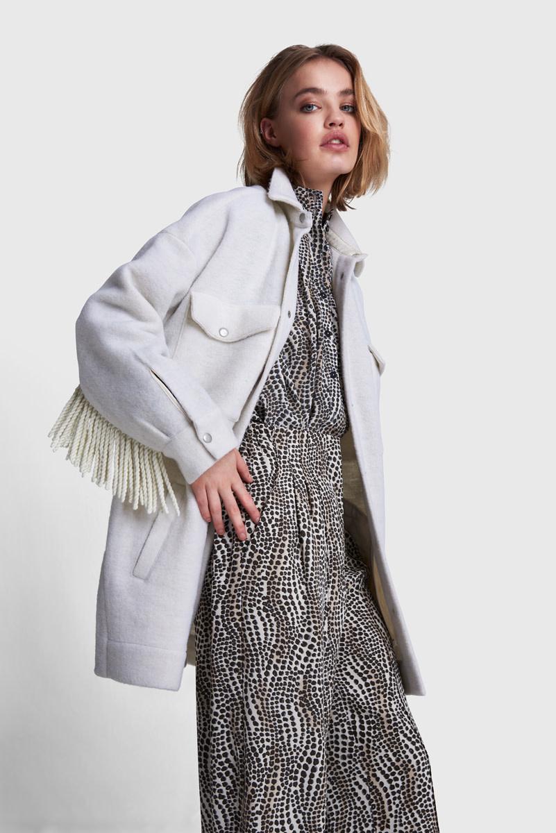 Felted Wool Jacket - Soft White-1
