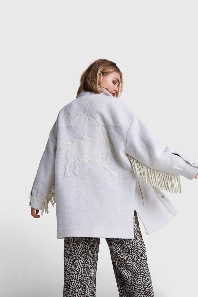 Felted Wool Jacket - Soft White-2