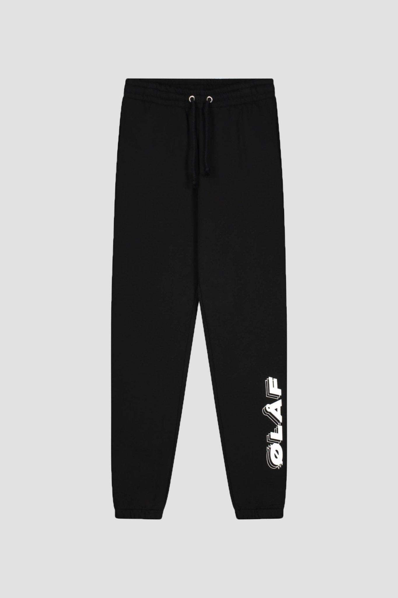Triple Italic Sweatpants - Black-1
