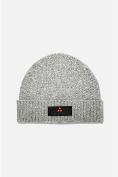 Wool Blend Hat with Logo - Grey