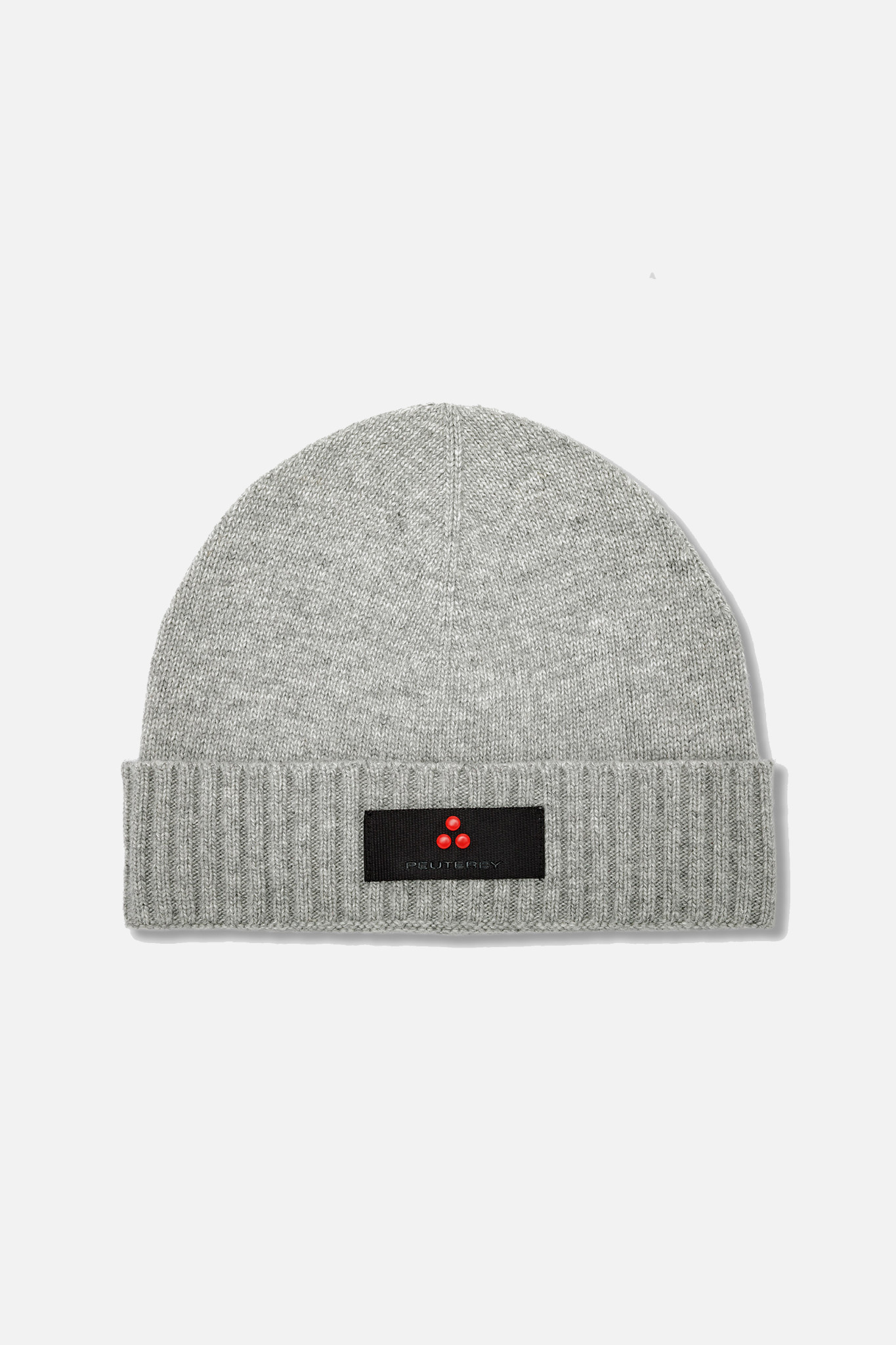Wool Blend Hat with Logo - Grey-1